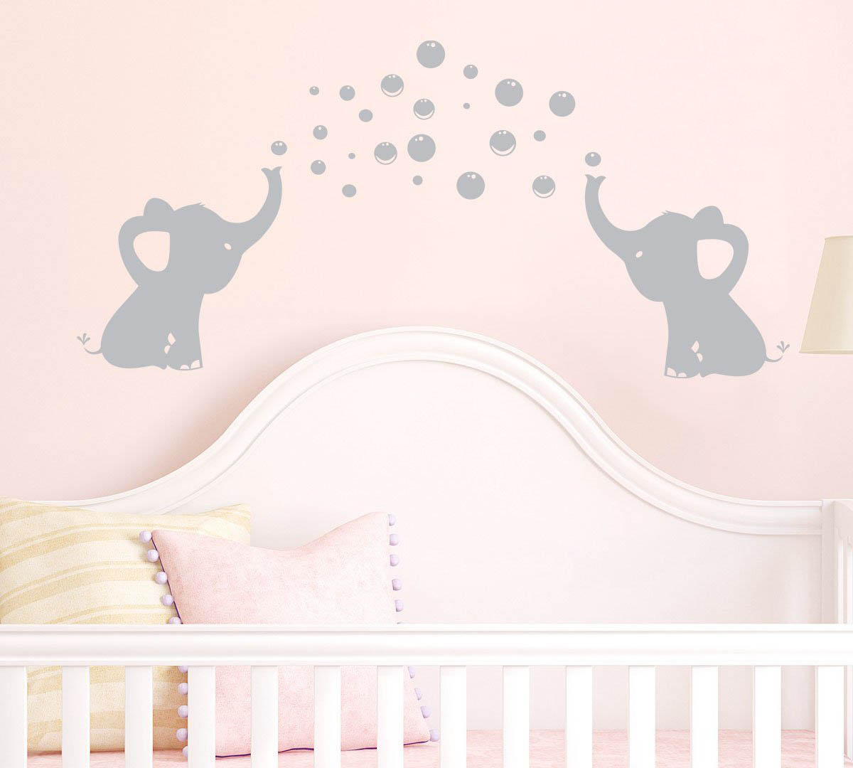 Elephants Bubbles Wall Decal Vinyl Sticker Art Baby Nursery Decor